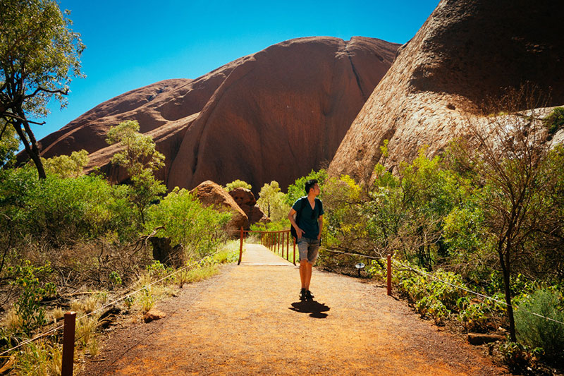 Free stock travel photography of Ayers Rock, Australia from Bucketlistly Photos.