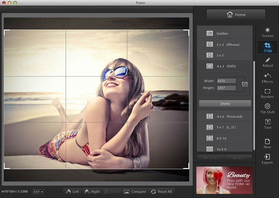 Fotor - alternatives for photoshop