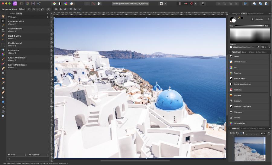 screenshot of affinity photo on Mac desktop