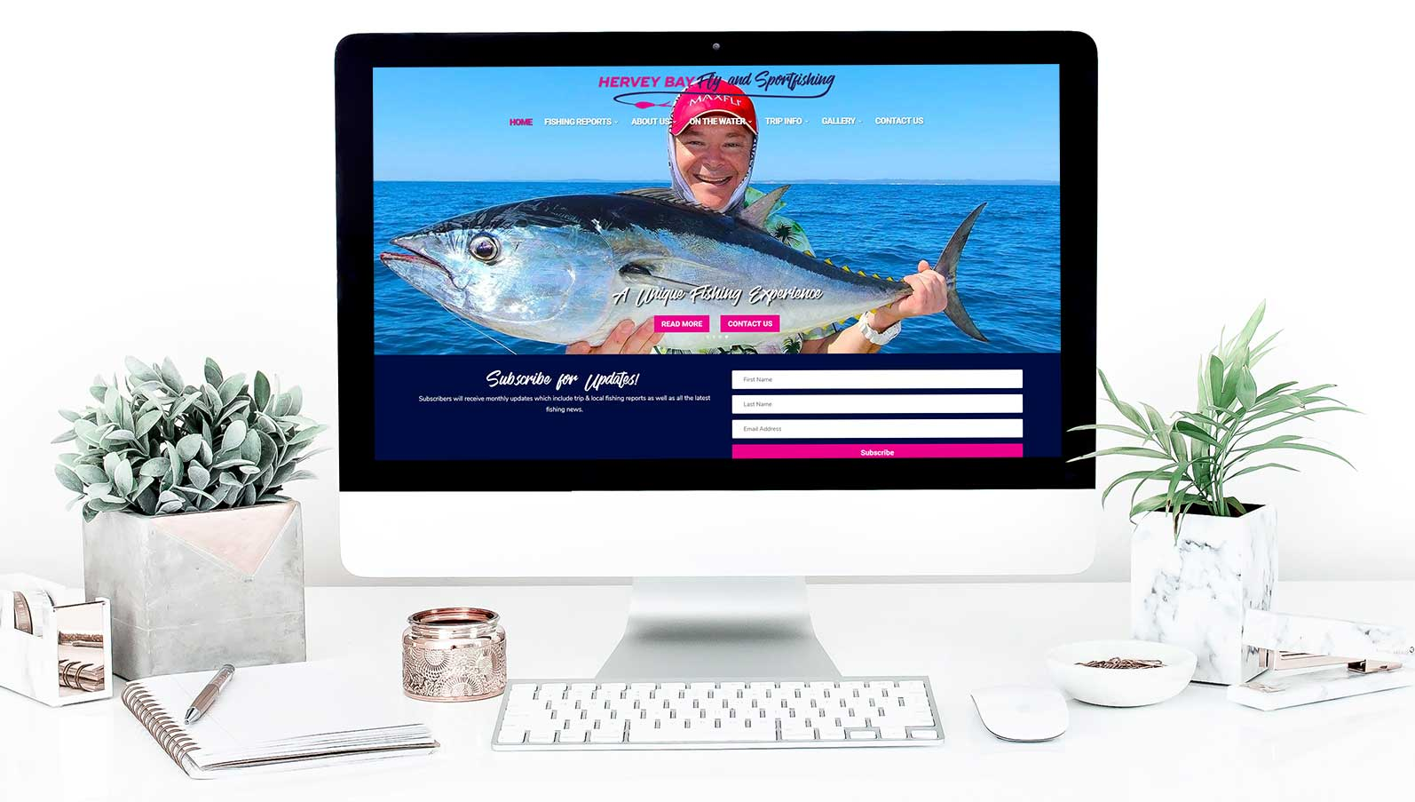 Hervey Bay Fly and Sportfishing Website Design - Hervey Bay