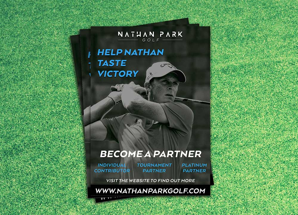 Nathan Park Golf A4 flyer design by Jen Mulligan Design, Hervey Bay Australia