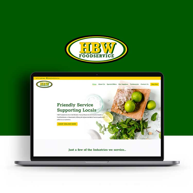 HBW Food Hervey Bay website design