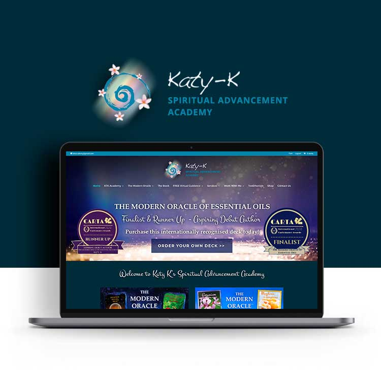Katy K Spiritual Advancement Academy psychic website design online store shop